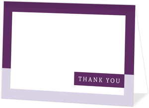 Modern Lavender Thank You Card
