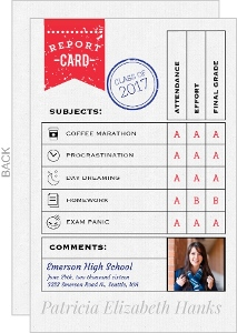 Unique Report Card Graduation Announcements