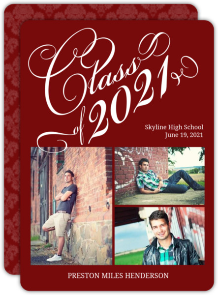 Black Swirl Statement Graduation Announcement