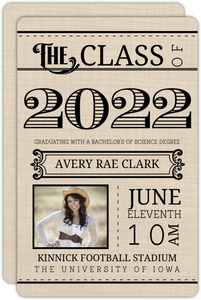 Western Typography Photo Graduation Announcement