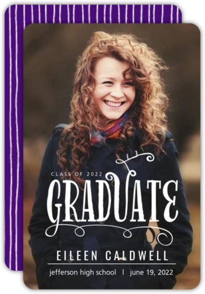 Whimsical Typography Graduation Announcement