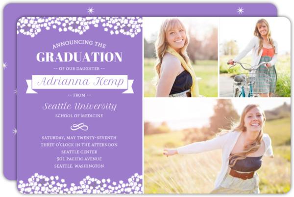 Elegant Turquoise Graduation Announcement