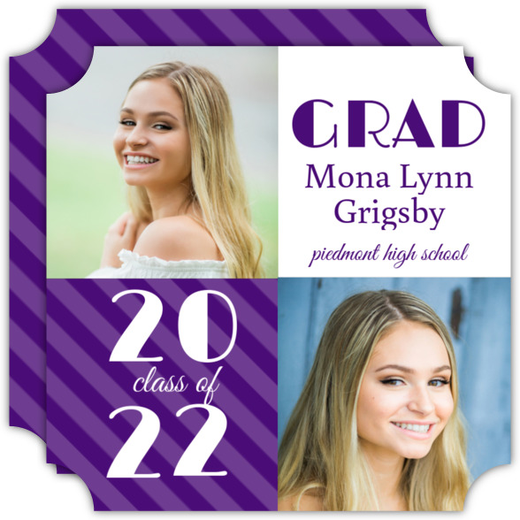 Gold and White Graduation Invitation