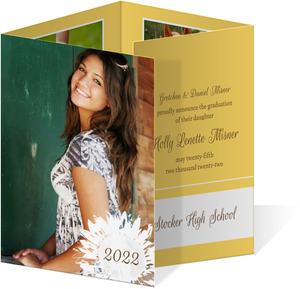 Yellow Sunflower Graduation Announcement