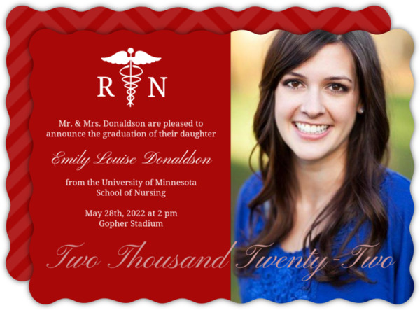 Purple RN Doctor Graduation Announcement