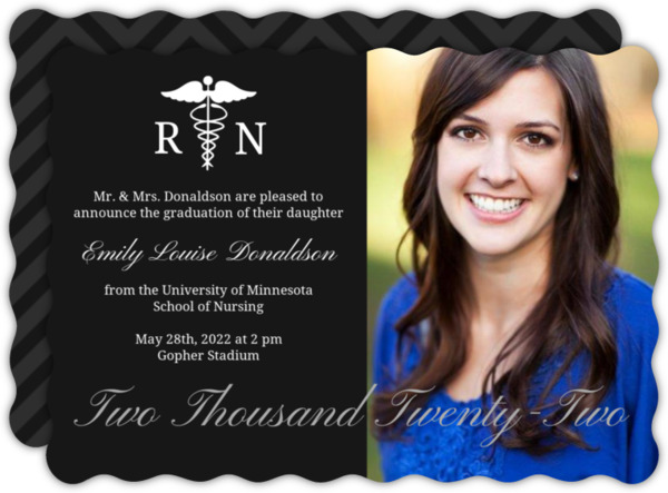 Purple RN Doctor Graduation Announcement