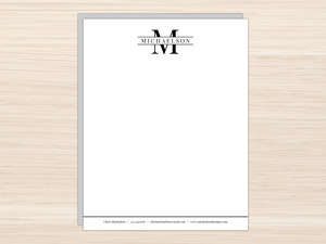 Modern Monogram Letter Writing Paper