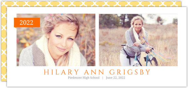 Simple Yellow Banner Graduation Announcement