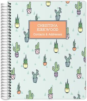 Cactus Pattern Address Book