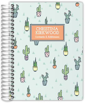 Cactus Pattern Address Book 6x8