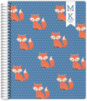 Cute Fox Address Book 8.5x11