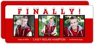 Red and Black Blocks Graduation Announcement