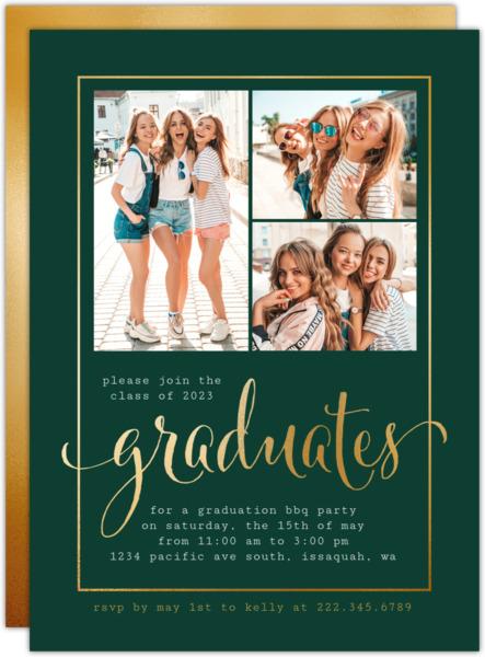 Formal Black Graduation Annoucement