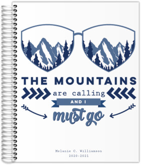 Mountains Are Calling Travel Journal 8.5x11