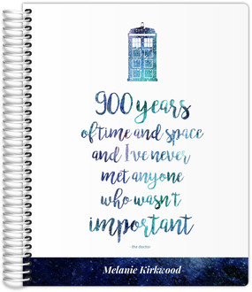 Time & Space Quote Travel Journal 8.5x11