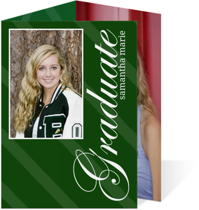 Elegant Green Brackets Graduation Announcement