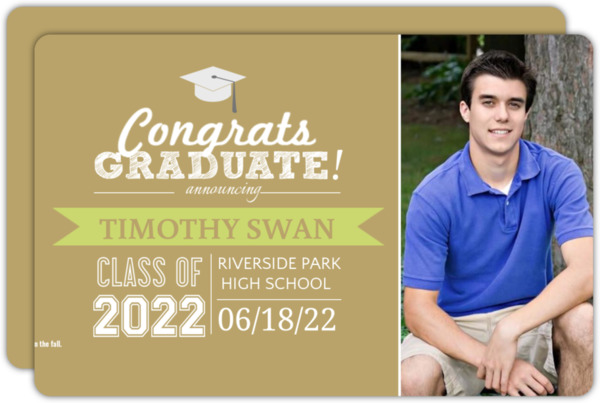 Modern Blue Graduation Announcement