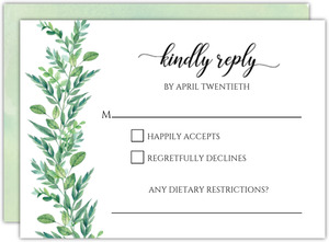 Gorgeous Greenery Wedding Response Card