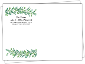 Gorgeous Greenery Custom Envelope