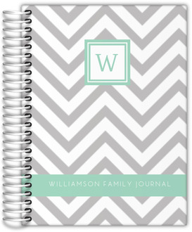 Simply Chevron Custom Journal 6x8