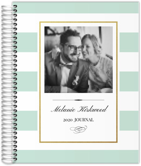 Classic Mint and Gold Frame Custom Journal 8.5x11