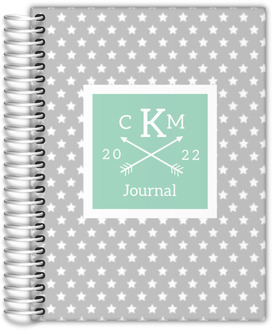 Star Spangled Monogram Custom Journal 6x8