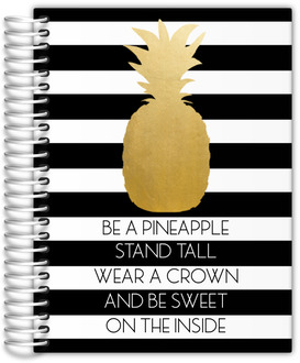 Modern Golden Pineapple Quote Journal 8.5x11