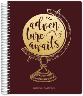 Faux Foil Adventure Globe Journal 8.5x11