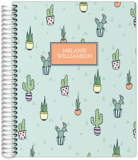 Cactus Pattern Journal 8.5x11