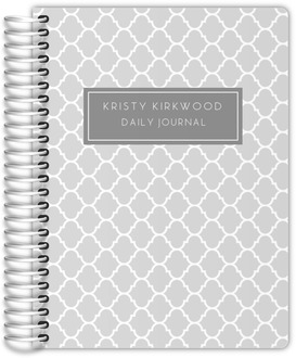 Quatrefoil Pattern Journal 6x8