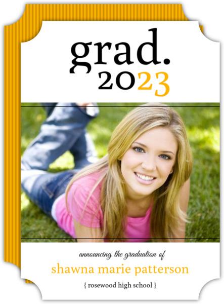 Simple Pink Graduation Announcement