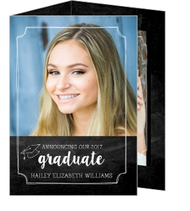 Tri Fold Graduation Announcements And Invitations