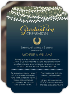 Glowing Hanging Lights Graduation Invitation