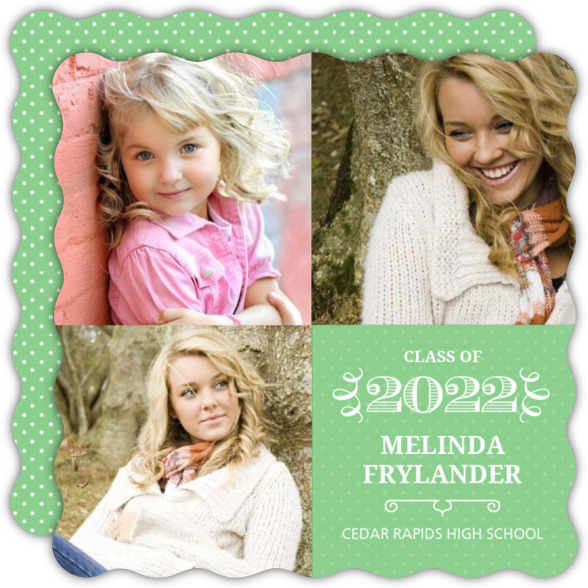 Pink and White Graduation Announcement