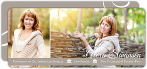 Simple Taupe Flourish Photo Law Graduation Announcement