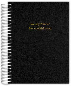 Simple Gold Foil Premium Weekly Planner