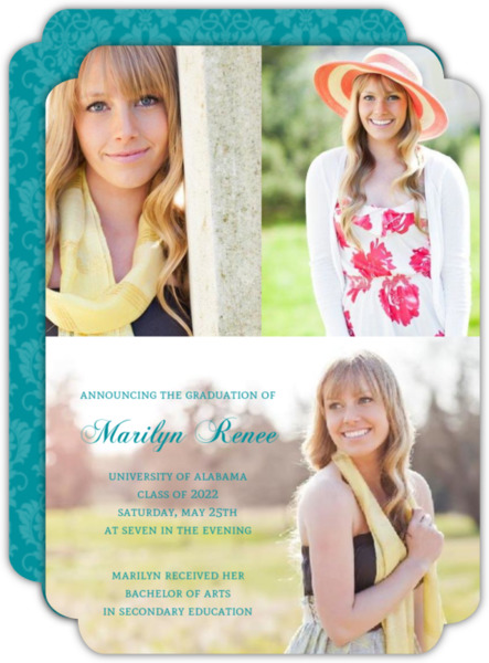 Simple Photos Graduation Announcement