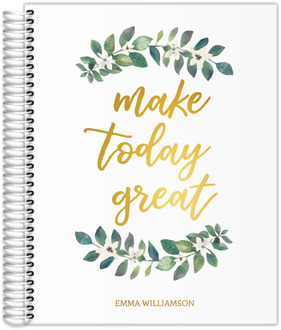 Make Today Great Real Foil Weekly Planner