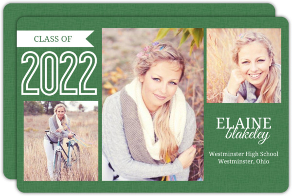 Modern Turquoise Graduation Announcement