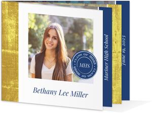 Graduation announcement cards grad photo announcements elegant faux foil monogram graduation invitation filmwisefo Images