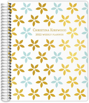Geometric Flower Real Foil Daily Planner