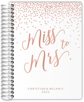 Confetti Miss To Mrs Real Foil Wedding Planner