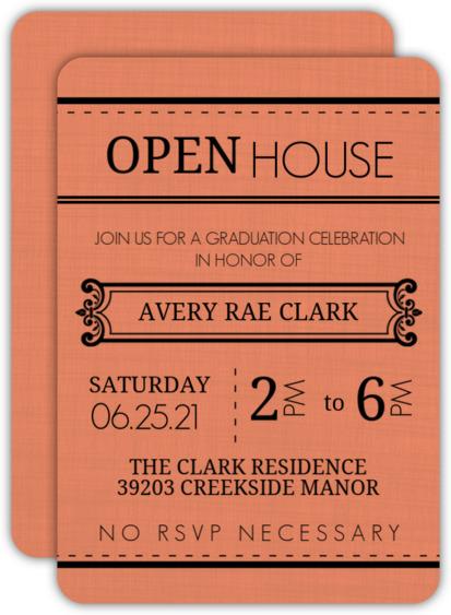 Western Typography  Graduation Invitation