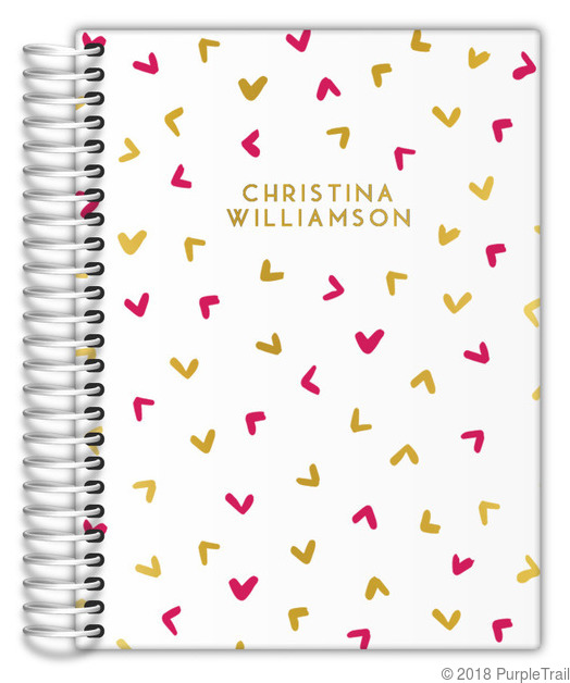 Cute Simple Pattern Real Foil Mom Planner