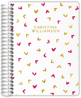 Cute Simple Pattern Real Foil Family Planner