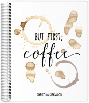 But First Coffee Stain Mom Planner