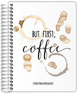 But First Coffee Stain Mom Planner 6x8