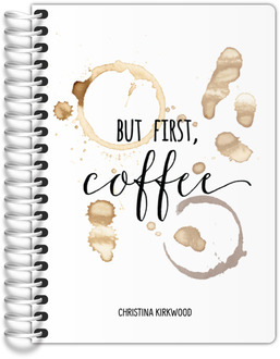 But First Coffee Stain Tiny Planner