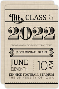 Western Typography Graduation Announcement
