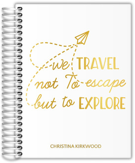 Travel To Explore Real Foil Daily Planner